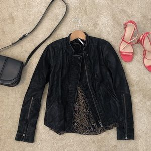 Free People Distressed Leather Jacket